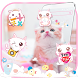 Pink Cat Cute Kitty Theme by AllIn Themes App