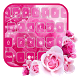Pink Rose Diamond by Echo Keyboard Theme