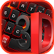 3D Black Red Keyboard by Keyboard Theme Factory