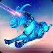 Goat Flying Robot: Super Eye Laser and Horn Attack by crushiz