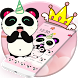 Pink Cute Panda Horn Theme by Fabulous Theme Wallpapers