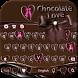 Chocolate Keyboard Theme by hot keyboard themes