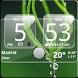 Sense Analog Glass Clock 4x2 by Factory Widgets