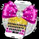 Pink Bow Glitter Keyboard Theme