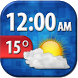 Cool Weather Clock Widget by Super Widgets