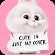 fun Cute Pink Rabbit Theme 3d by Cool Theme Creator