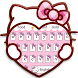 Pink Cute Kitty Cartoon Keyboard Theme by Theme Creative Center
