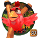 3d angry bird theme