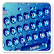 Blue glass Waterdrop Keyboard Theme by 7star princess