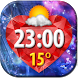 Diamonds Clock Weather Widget by Super Widgets