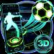 Neon Football Tech 3D Theme by Launcher Design