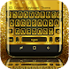 3D Golden Keyboard Theme by Mobile Premium Themes