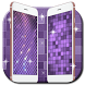 bling amethyst lattice mosaic by live wallpaper collection