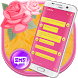 Glamour Pink SMS by BestKeyboardThemes