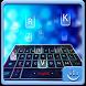Blue Hologram Keyboard Theme by Fashion Cute Emoji