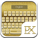 Golden Keyboard Theme by Pixelate Themes