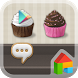 Sweet Cupcake Dodol Theme by Camp Mobile for dodol theme