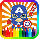 Coloring Mini Superhero by kidsmediasys