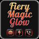 Fiery Magic Glow Black Theme by Jellytap