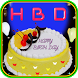 Happy Birthday Cake Photo Frame Decorate by super bright