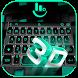 3D Black Tech Keyboard Theme by Fashion Cute Emoji