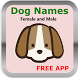 Female & Male Dog Names by wixiDev