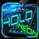 Holo Launcher Black Tech Theme by Theme Wizard
