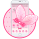 Cute Pink Bowknot Theme by Cool Wallpaper