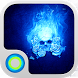 Blue Flame Skull Cool Theme by Cool Themes for Hola Launcher