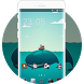Cute Whale Theme: Green Relax Wallpaper HD by Brilliant Andriod Theme