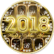 Happy New Year 2018 keyboard by Keyboard Design Paradise