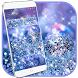 Glitter Blue Dream Theme - glitter wallpaper by Beauty Die Marker