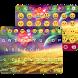 Gold Neon Emoji Keyboard Theme by Keyboard themes