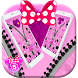 Pink Fluffy Minny Zipper Theme by Fabulous Theme Wallpapers