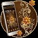 Golden luxury Flower Theme by Launcher Fantasy