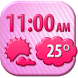 Romantic Weather Clock Widget by Super Widgets