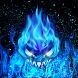 Blue Magic Flame Fantasy Theme by Fabulous Theme Wallpapers