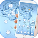 Blue Water Rose Flower Theme Wallpaper by LXFighter-Studio