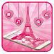 Eiffel Tower Pink Theme by Cool Theme Love