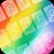 Cute Rainbow Keyboard Theme by KeyboardThemez