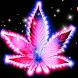 Purple Neon Rasta Weed Theme by Theme Creative Center