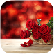 Red Rose and Heart Best Theme by Pink Themes for Hola Launcher