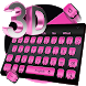 3D Pink Bowknot Keyboard Theme