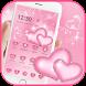 Pink heart diamond love Theme by Beauty Die Marker