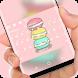 Cute Pink Macaron Keyboard by Jubee Theme Studio