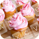Cupcakes Pink Keyboard Theme by KeyboardThemez