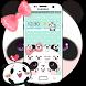 Green Cute Panda Bowknot Theme by Theme Creative Center