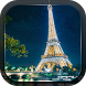 The Eiffel Tower in Paris by Lux Live Wallpapers