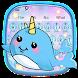 Cute Unicorn Whale Keyboard by Super Cool Keyboard Theme
