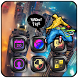 Parkour Neon City Run by Launcher phone theme